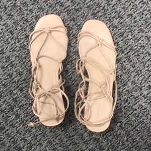 Block Heel Gladiator Sandals - Size 6